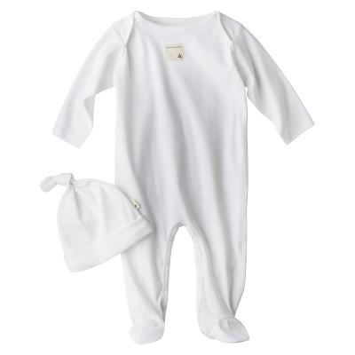 Burt's Bees Baby Newborn Organic Lap Shoulder Coverall and Hat Set - Cloud 0-3M