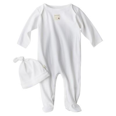 Burt's Bees Baby Newborn Organic Lap Shoulder Coverall and Hat Set - Cloud 0-3M