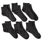 Pro Spirit® Women's 6-Pack Ankle Athletic Socks - Black 9-11
