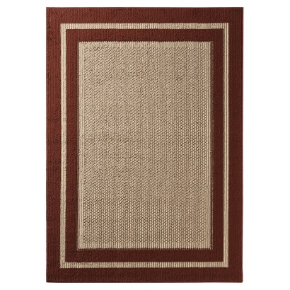 "MOHAWK HOME TUFTED SISAL ACCENT RUG - RED (1'8""X2'6"")"