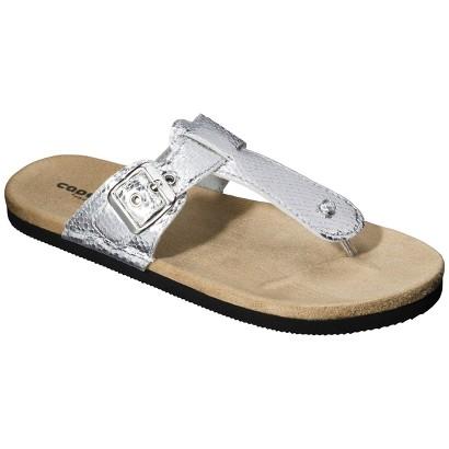 Women's T-Strap Sandal - Metallic Silver