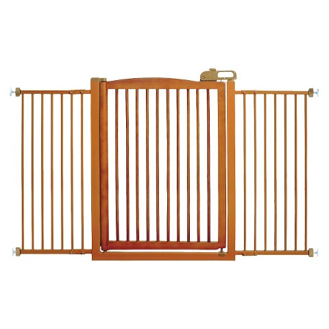 Richell One-Touch Pet Gate 150 - Brown (Tall)