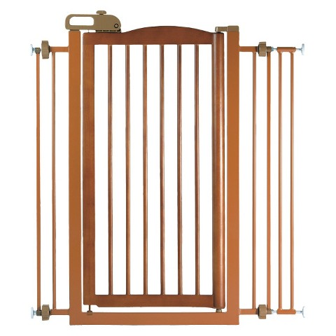 Richell One-Touch Pet Gate - Brown (Tall)