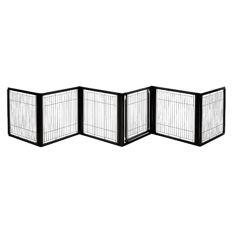 Richell Convertible Elite Pet Gate 6 Panel - Black