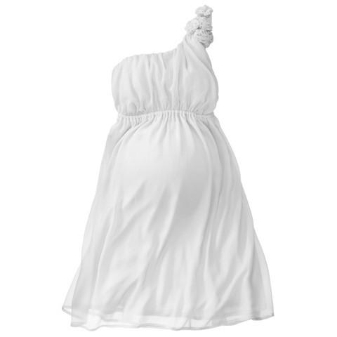 Maternity One Shoulder Rosette Dress-Merona®