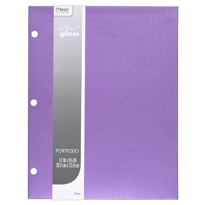 Mead 8.5x11 Internal Pocket Portfolio without Fasteners