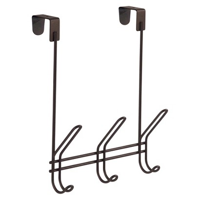 INTERDESIGN OVER-THE-DOOR TRIPLE HOOK - BRONZE