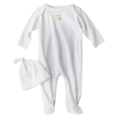 Burts Bees Baby™ Newborn Coverall and Hat - Cloud