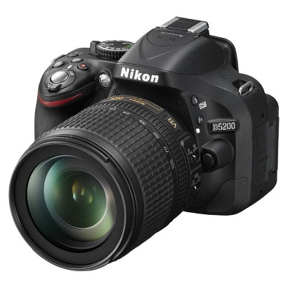 Nikon D5200 Digital SLR Camera with 18-105 Lens - Black