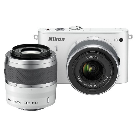 Nikon 1 J3 14.2MP Digital Camera with 10-30mm and 30-110mm Lenses