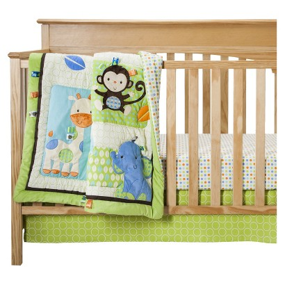 Taggies 3pc Silly Friends Crib Bedding Set