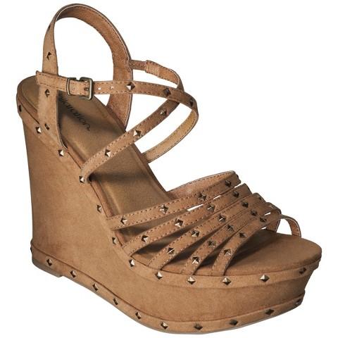Women's Xhilaration® Sallie Studded Wedge Sandal - Brown