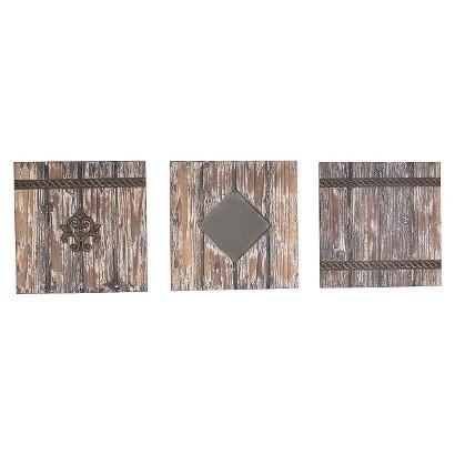 "Wood Panels 3 Piece (11x11"")"