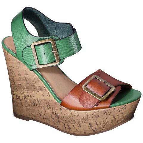 Women's Mossimo Supply Co. Walda Wedge Sandal with Buckle - Green