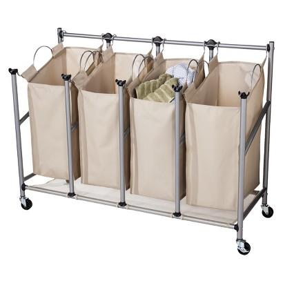 Threshold Brown Linen Quad Front Load Laundry Sorter