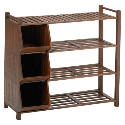 4 Tier Outdoor Shoe Rack Cubby