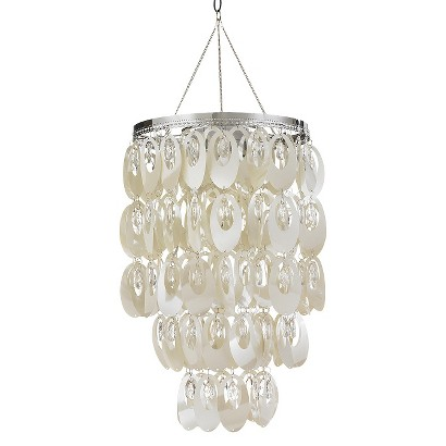 Anywhere Shimmer Chandelier Oval - Pearlized White