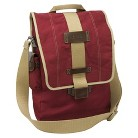 """Nuo Tech Canvas Vertical Messenger Style 15.6"""" Laptop Bag - Red (100065)"""