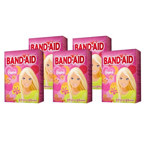 Band-Aid Barbie Brand Adhesive Bandages - 5 Pack (25 Count each)