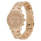 Women's Merona® Boyfriend Watch with Rhinestones - Rose Gold