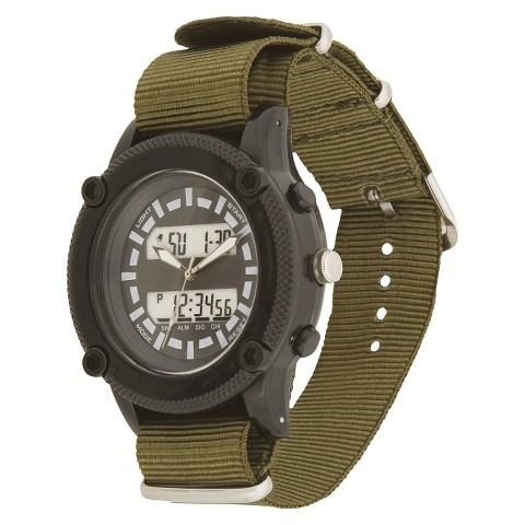 Men's Mossimo® Canvas Strap Digital Watch - Green