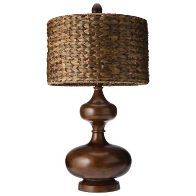 Mudhut™ Gourd Table Lamp with Seagrass Shade