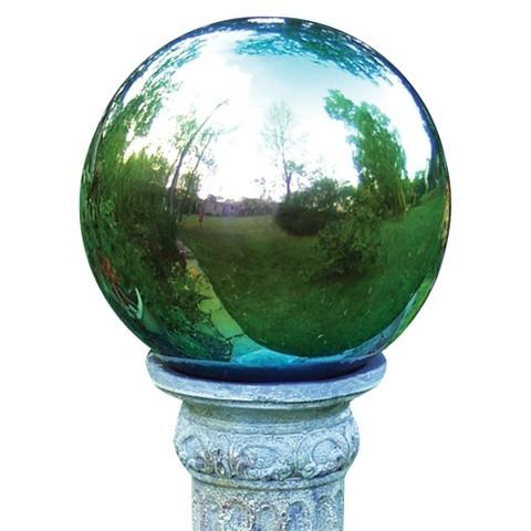 "Stainless Steel Gazing Globe Arco Iris (10"")"