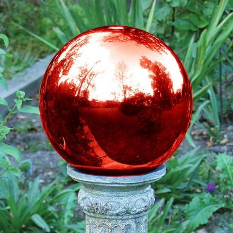 "Gazing Globe Red (10"")"