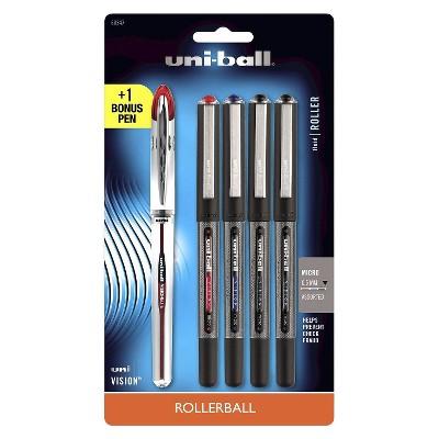 Uniball Vision 4ct Asst. Rollerball Pen