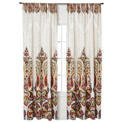 "Mudhut™ Samovar Curtain Panel - Cream (55x84"")"