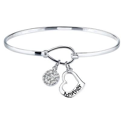 Silver Plated Bracelet bangle - Silver