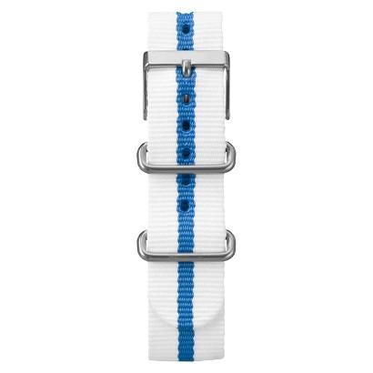 Timex Weekender™ Full-Size Slip Thru Replacement 20mm Strap - White/Blue - T7B967TV
