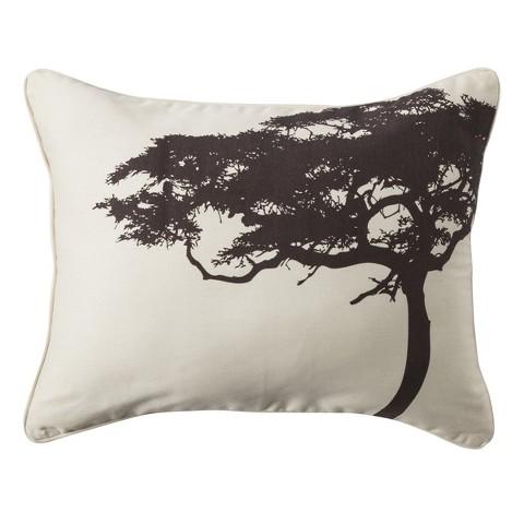 "Mudhut Tree 14""x18"" Decorative Pillow - Cream"