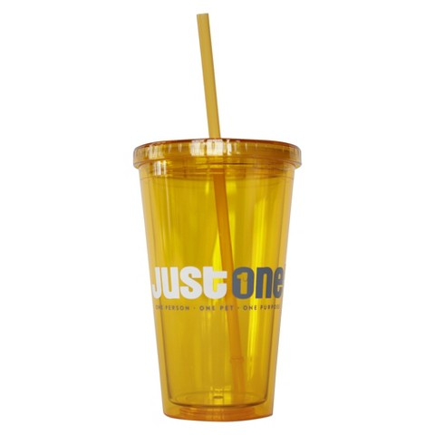 Just One Tumbler with Straw - 16 oz