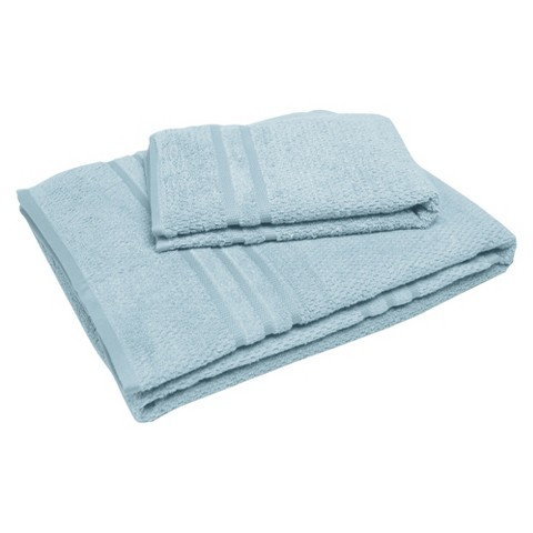 "Soft Touch ""Popcorn"" Textured Smart Dry Pet Towel Set - Winter Sky (30x54"",16x24"")"