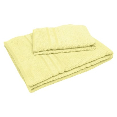 "Soft Touch ""Popcorn"" Textured Smart Dry Pet Towel Set - Custard (30x54"",16x24"")"