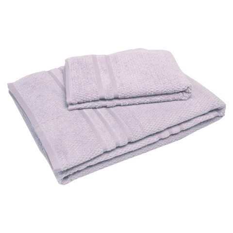 "Soft Touch ""Popcorn"" Textured Smart Dry Pet Towel Set - Lavender (30x54"",16x24"")"