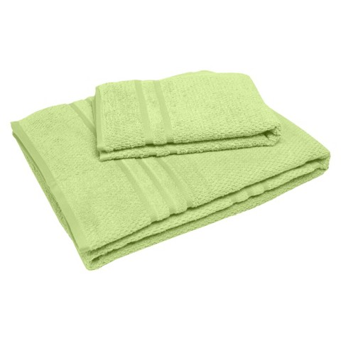 "Soft Touch ""Popcorn"" Textured Smart Dry Pet Towel Set - Aloe Green (30x54"",16x24"")"