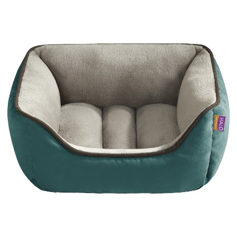 "Halo Hooded Snuggler with Cushion - Teal/Taupe (21x25"")"