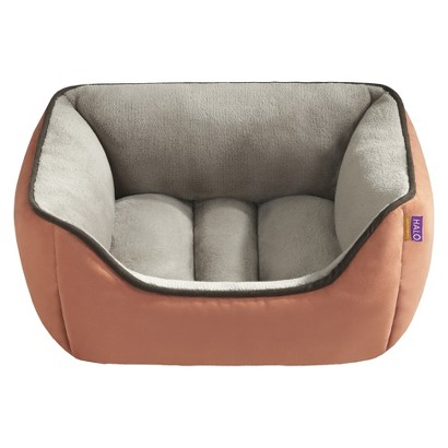 "Halo Reversible Rectangular Cuddler - Spice/Taupe(21x25"")"