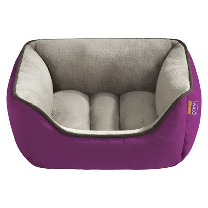 """Halo Hooded Snuggler with Cushion - Royal/ Taupe (21x25"""")"""