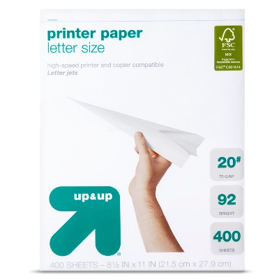 "Printer Paper, 8.5"" x 11"", 400ct - up & up™"