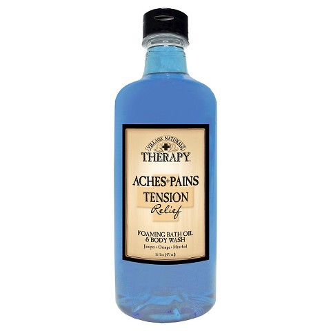 Village Naturals Therapy™ Stress and Tension Relief Foaming Bath Oil and Body Wash - 16 fl oz