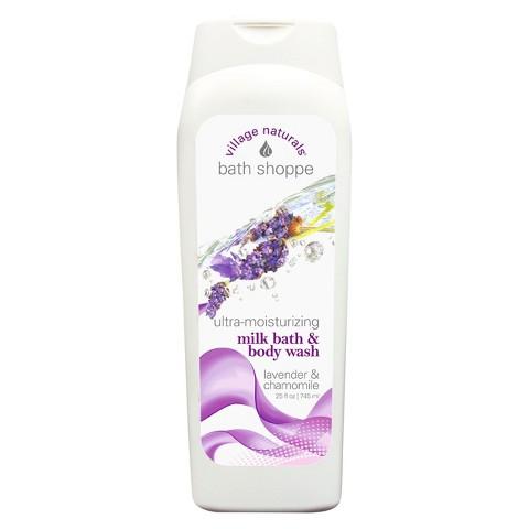 Village Naturals® Ultra Moisturizing Milky Bath and Body Wash - Lavender and Chamomile (25 fl oz)