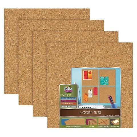 The Board Dudes Cork Board Tiles 12in x 12in
