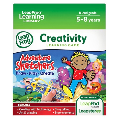 LeapFrog Learning Game: Adventure Sketchers! Draw, Play, Create (for LeapPad Tablets and LeapsterGS)