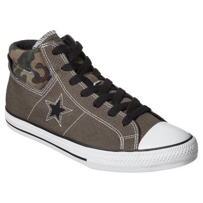 Men's Converse® One Star® Midtop Sneaker - Camo Green
