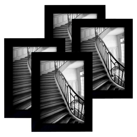 Room Essentials™ 4 Pack Flat Top Frame - Black 4x6