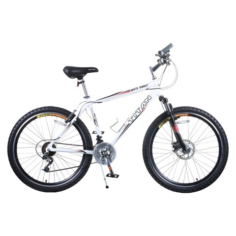 "Titan Mens White Knight 21-Speed All-Terrain - White (18"" Frame)"