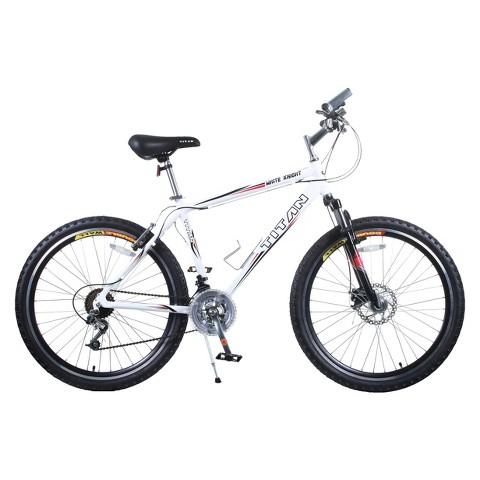 """TITAN Men's White Knight 26"""" Mountain Bike - White"""